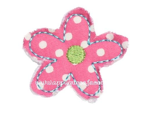 Add on Raggy Flower Applique Design