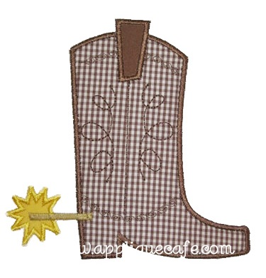 Cowboy Boot Applique Design