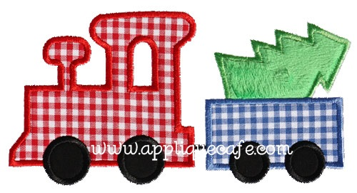 Christmas Train Applique Design