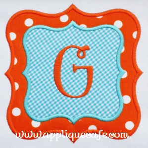 Double Frame Patch Applique Design