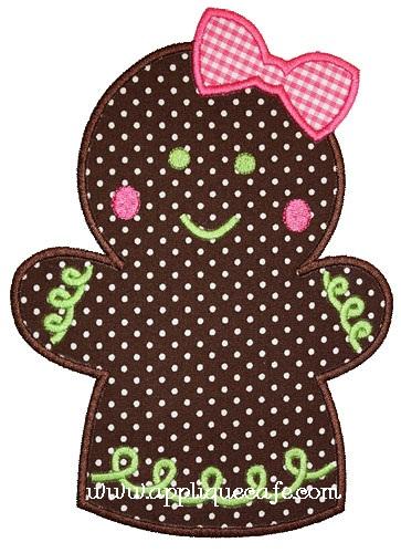 Gingerbread Girl Applique Design