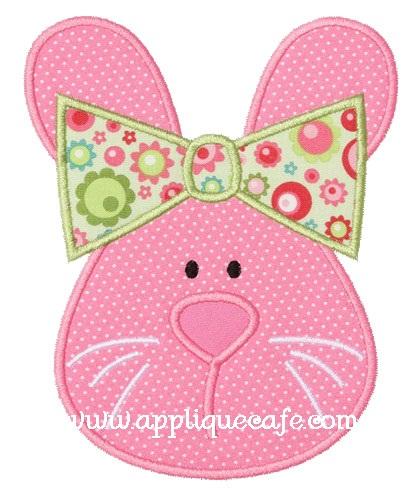 Girl Bunny Applique Design
