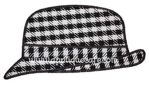 Houndstooth Hat Applique Design