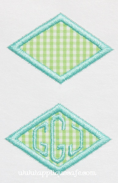 Mini Diamond Patch Applique Design