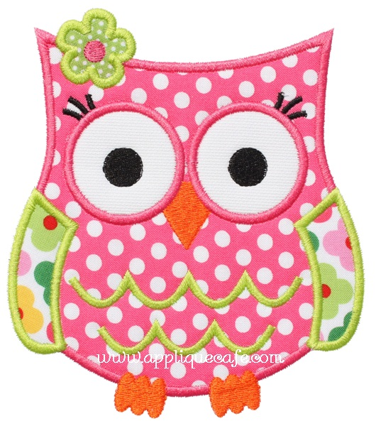 Owl 5 Applique Design