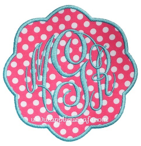 Petal Patch Applique Design