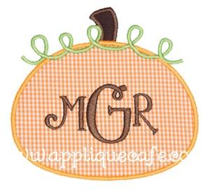 Pumpkin 3 Applique Design