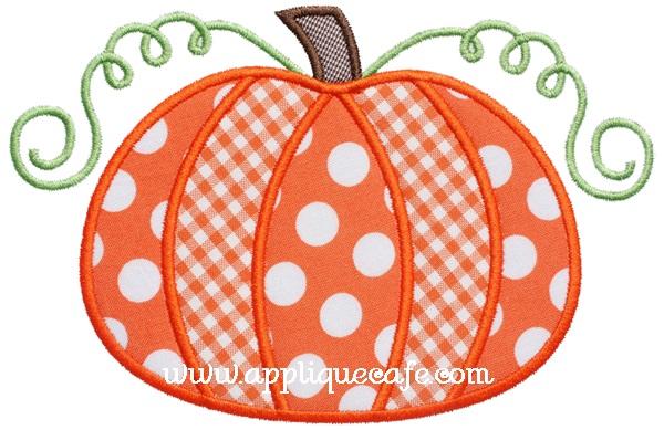 Pumpkin 5 Applique Design