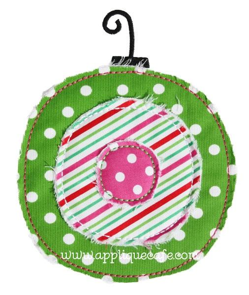 Raggy Ornament Applique Design