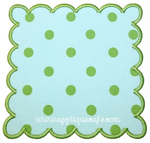 Square Scalloped Patch Applique Design