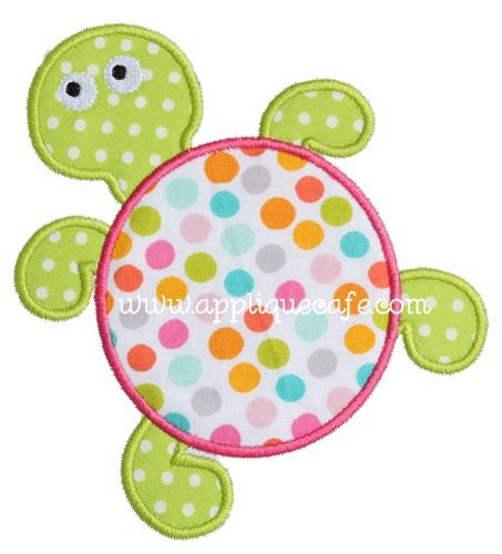 Sea Turtle Applique Design