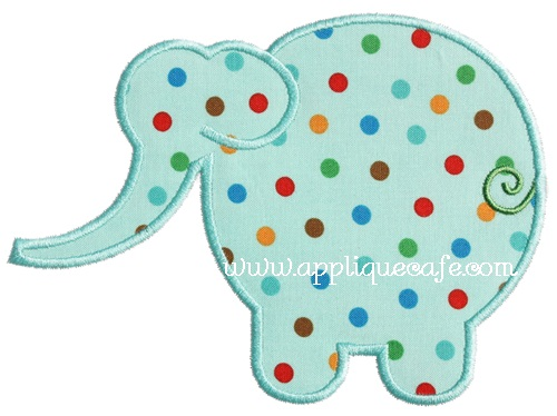 Simple Elephant Applique Design