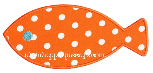 Simple Fish Applique Design