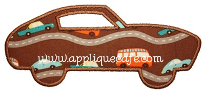 Sports Car Applique Design