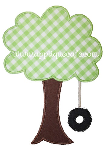 Tree Swing Applique Design