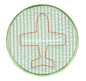 Airplane Patch Applique Design