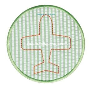 Airplane Patch Applique Design