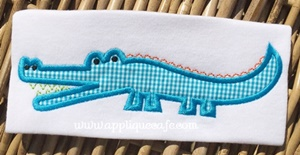 Alligator 2 Applique Design