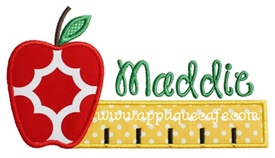 Apple Ruler Applique Design