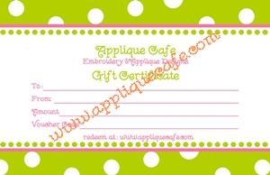 Applique Cafe Gift Certificate