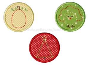Baby Holiday Patches Applique Design