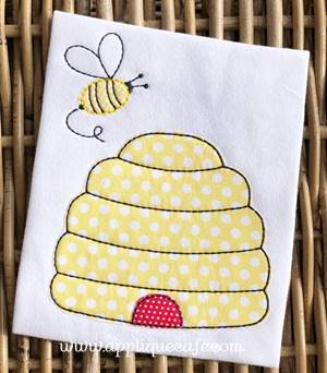 #1049 Beehive Applique Design