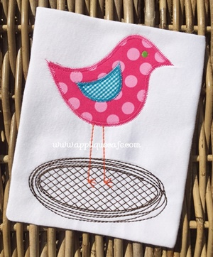 Bird Nest 2 Applique Design
