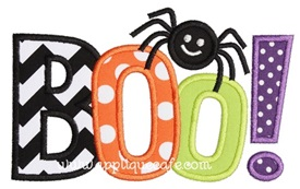 BOO 2 Applique Design