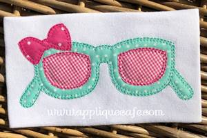 Sunglasses with Bow Applique Design