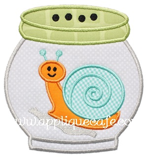 Bug Jar Applique Design