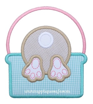 #1032 Bunny Basket 2 Applique Design