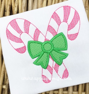 Candy Canes Applique Design