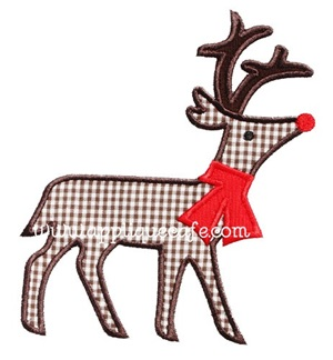 Christmas Deer Applique Design