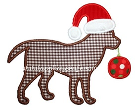 Christmas Dog Applique Design
