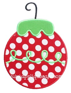 Christmas Ornament 5 Applique Design