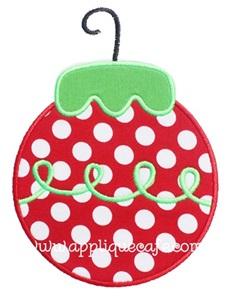 Christmas Ornament 5 Applique Design