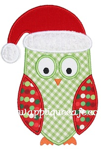 Christmas Owl Applique Design