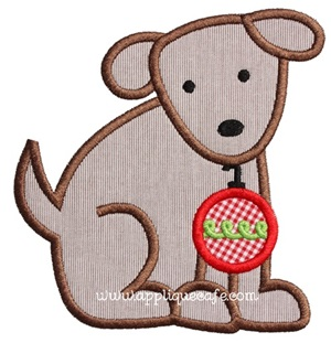 Christmas Puppy Applique Design