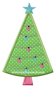 Christmas Tree 14 Applique Design