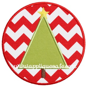 Christmas Tree Patch Applique Design