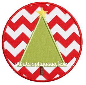 Christmas Tree Patch Applique Design