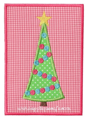Christmas Tree Patch 4 Applique Design