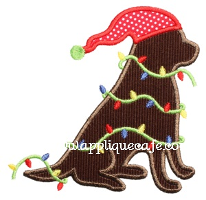 Christmas Dog 2 Applique Design