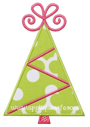 Christmas Tree 13 Applique Design