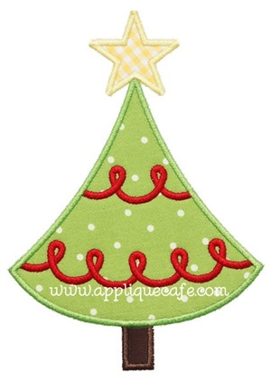 Christmas Tree 4 Applique Design