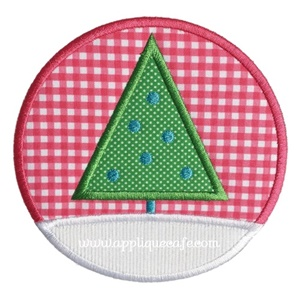 Christmas Tree Patch 5 Applique Design