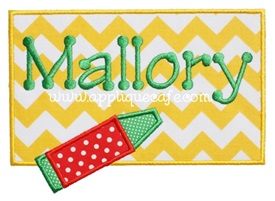 Crayon Patch Applique Design