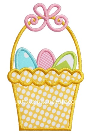 #915 Easter Basket 3 Applique Design