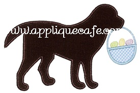 Easter Dog Applique Design