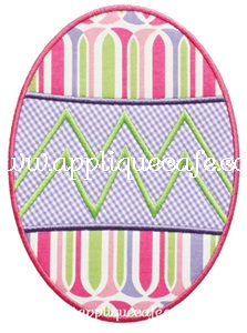 Easter Egg Applique Design